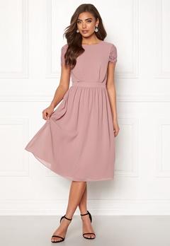 Moments New York Camellia Chiffon Dress Dark old rose Bubbleroom.fi