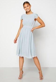 Moments New York Camellia Chiffon Dress Grey-blue Bubbleroom.fi