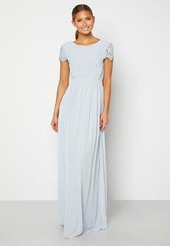 Moments New York Camellia Chiffon Gown Blue-grey Bubbleroom.fi