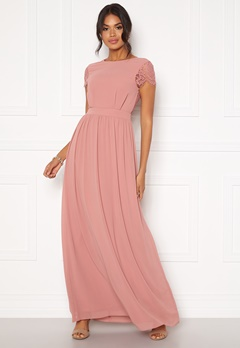 Moments New York Camellia Chiffon Gown Dark old rose Bubbleroom.fi