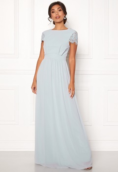 Moments New York Camellia Chiffon Gown Blue-grey Bubbleroom.fi