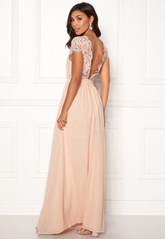 Moments New York Camellia Chiffon Gown Beige-pink Bubbleroom.fi