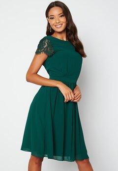 Moments New York Camellia Lace Dress Dark green bubbleroom.fi
