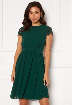 Moments New York Camellia Lace Dress Dark green Bubbleroom.fi