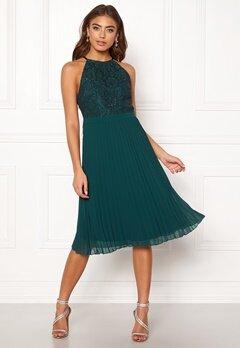Moments New York Casia Pleated Dress Green Bubbleroom.fi