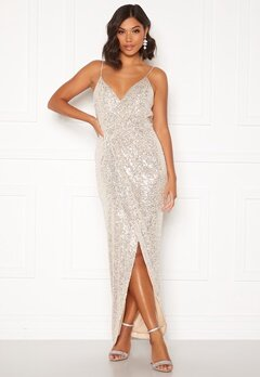 Moments New York Charlotte Sequin Gown Gold Bubbleroom.fi