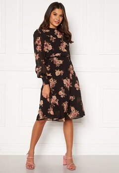 Moments New York Chloe Chiffon Dress Floral Bubbleroom.fi