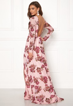 Moments New York Columbine Mesh Gown Pink / Patterned Bubbleroom.fi