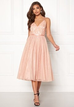 Moments New York Daphne Mesh Dress Dusty pink Bubbleroom.fi