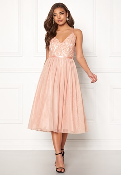 Moments New York Daphne Mesh Dress Dusty pink Bubbleroom.fi