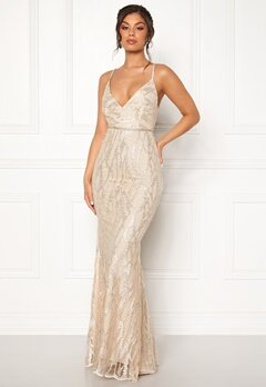 Moments New York Delphine Beaded Gown Champagne Bubbleroom.fi