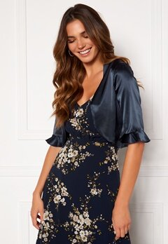 Moments New York Denise Satin Cover Up Navy Bubbleroom.fi