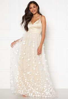 Moments New York Eline Flower Gown Champagne Bubbleroom.fi