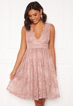 Moments New York Ella Lace Dress Pink Bubbleroom.fi