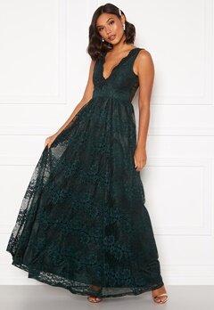 Moments New York Ella Lace Gown Dark green Bubbleroom.fi