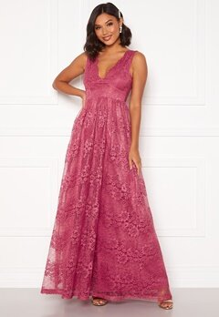 Moments New York Ella Lace Gown Raspberry red Bubbleroom.fi