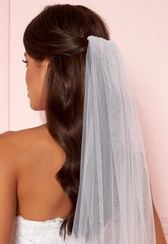 Moments New York Embroidery Veil White Bubbleroom.fi