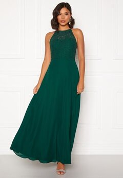 Moments New York Evelyn Lace Gown Dark green Bubbleroom.fi