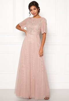 Moments New York Fleur Mesh Gown Light lilac Bubbleroom.fi