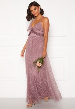 Moments New York Flora Frill gown Dusty lilac Bubbleroom.fi
