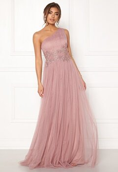 Moments New York Florine Mesh Gown Old rose Bubbleroom.fi