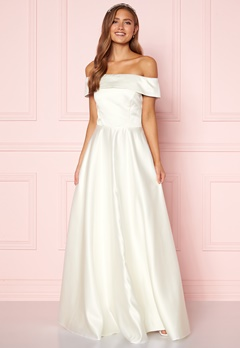 Moments New York Gabrielle Wedding Gown White Bubbleroom.fi