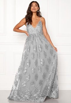 Moments New York Gardenia Lace Gown Blue-grey Bubbleroom.fi