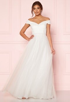 Moments New York Hanna Wedding Gown White Bubbleroom.fi