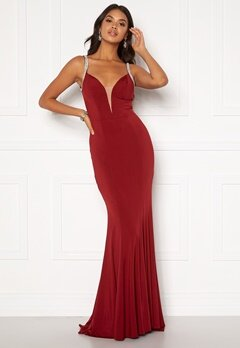 Moments New York Irina Sparkle Gown Wine-red Bubbleroom.fi