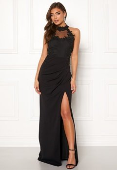 Moments New York Iris Drape Gown Black Bubbleroom.fi
