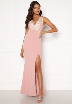 Moments New York Isabella Lace Gown Dusty pink Bubbleroom.fi