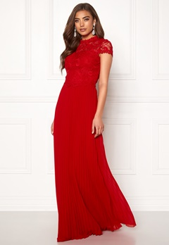 Moments New York Kassia Crochet Gown Red Bubbleroom.fi