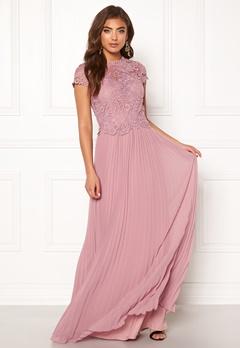 Moments New York Kassia Crochet Gown Dusty lilac Bubbleroom.fi
