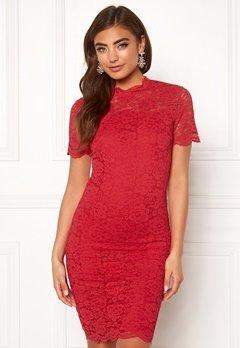 Moments New York Kassia Lace Dress Red Bubbleroom.fi