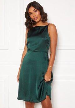 Moments New York Laylani Satin Dress Dark green Bubbleroom.fi