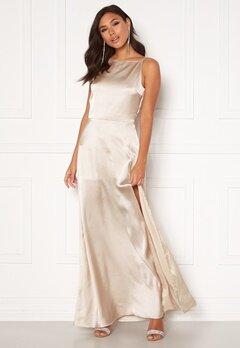 Moments New York Laylani Satin Gown Champagne bubbleroom.fi