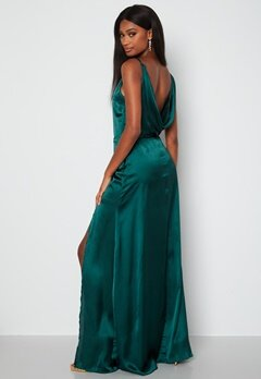Moments New York Laylani Satin Gown Dark green bubbleroom.fi