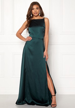 Moments New York Laylani Satin Gown Dark green Bubbleroom.fi