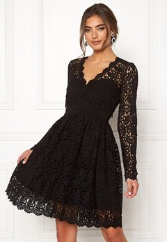 Moments New York Leyla Crochet Dress Black Bubbleroom.fi