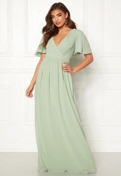 Moments New York Liana Chiffon Gown Light green Bubbleroom.fi