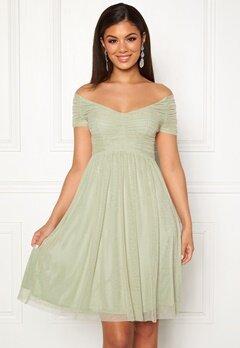 Moments New York Lily Draped Dress Dusty green Bubbleroom.fi