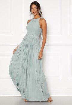 Moments New York Linnea Pleated Gown Jade-green Bubbleroom.fi