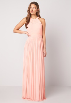 Moments New York Linnea Pleated Gown Light pink bubbleroom.fi