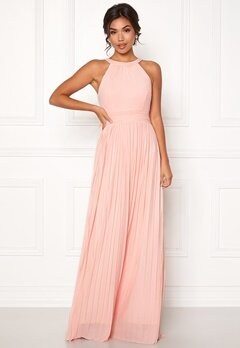 Moments New York Linnea Pleated Gown Light pink Bubbleroom.fi