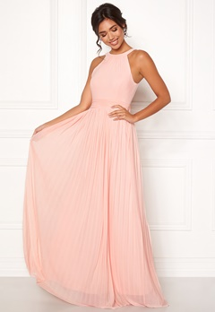 Moments New York Linnea Pleated Gown Rosa Bubbleroom.fi