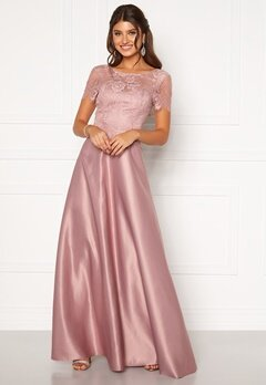 Moments New York Madeleine Satin Gown Light lilac Bubbleroom.fi