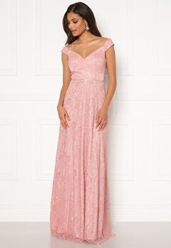 Moments New York Melina Lace Gown Light pink Bubbleroom.fi