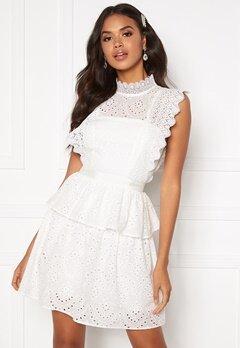 Moments New York Olivia Crochet Dress White bubbleroom.fi