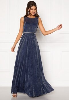 Moments New York Ophelia Lurex Gown Navy Bubbleroom.fi