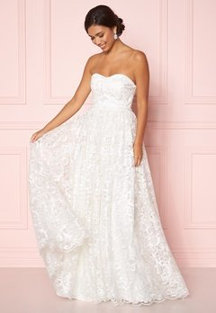 Moments New York Peony Wedding Gown White Bubbleroom.fi